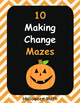 Halloween Math: Making Change Maze