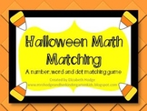Halloween Math Matching Game
