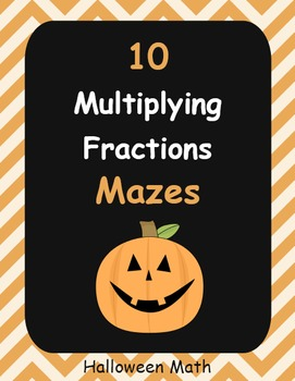 Halloween Math: Multiplying Fractions Maze