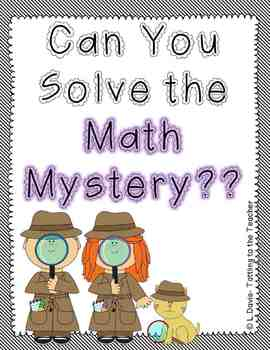 Halloween Math Mystery Freebie