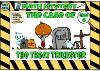 Halloween Math Mystery Grade 6