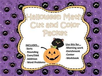 Halloween Interactive Math Packet