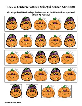 Halloween Math Patterns, Sizing & Counting Activities