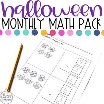 Halloween Math Printables for Special Education