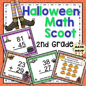 Halloween Math Scoot - 2nd Grade