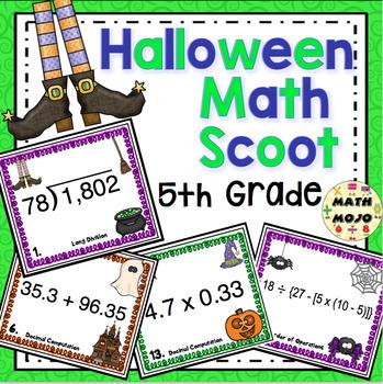 Halloween Math Scoot  - 5th Grade