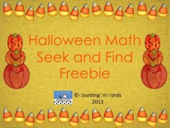 Halloween Math Seek and Find Freebie