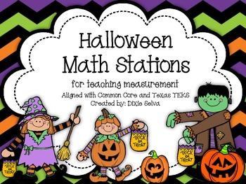 Halloween Math Stations: Measurement