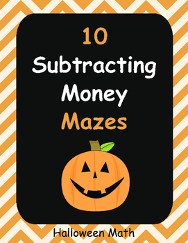 Halloween Math: Subtracting Money Maze