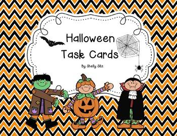 Halloween Math Task Cards-FREE