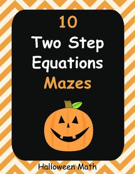 Halloween Math: Two Step Equations Maze