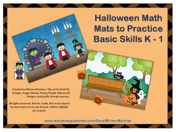 Halloween Math Mats for Kinder centers or RTI