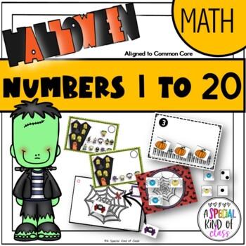 Halloween Math Work Stations for Kindergarten - Aligned to