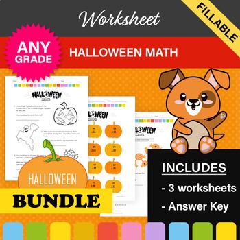 Halloween Math Worksheets! 1st/2nd Grade