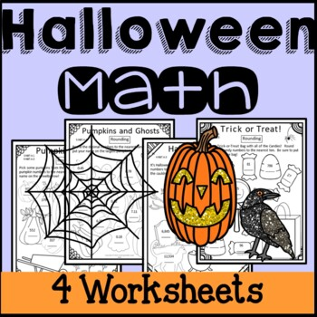 Halloween Math Worksheets Rounding Numbers 3rd Grade 4th G