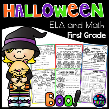 Halloween Activities Math and Literacy Packet First Grade