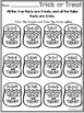 Halloween Worksheets Math and Literacy Packet First Grade
