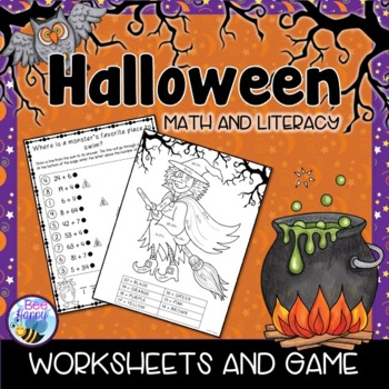 Halloween Math and Literacy Printables