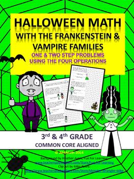 Halloween Math Problems - Frankensteins & Vampires: Common