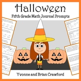 Halloween Math Journal Prompts (5th grade) - Common Core