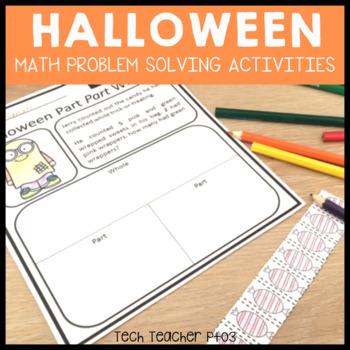 Halloween Maths Problem Solving Part Part Whole Strategy 1