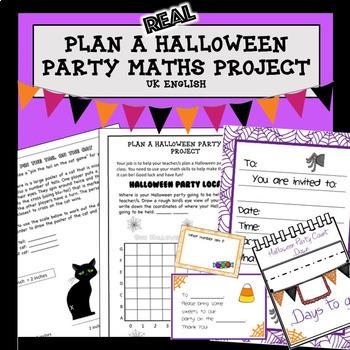 Halloween Maths Project Plan a Party AUS UK