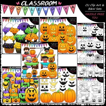 Halloween Clip Art Mega Bundle (5 Sets)
