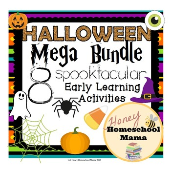 Halloween Mega Bundle with 8 Spooky Themed Early Learning