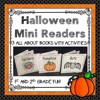 Halloween Mini Readers Freebie!  Pumpkins, Spiders, & Bats