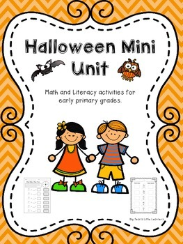Halloween Mini Unit ~ Math and Literacy activities for Ear