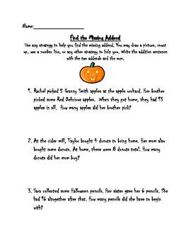 Halloween Missing Addends