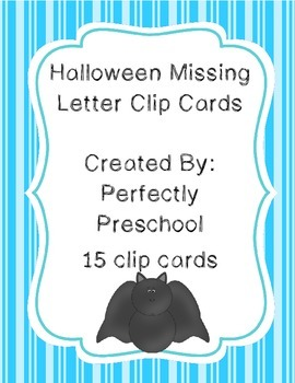 Halloween Missing Letter Clip Cards