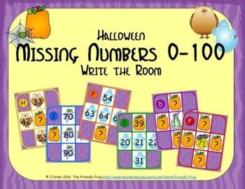 Halloween Missing Numbers 0-100