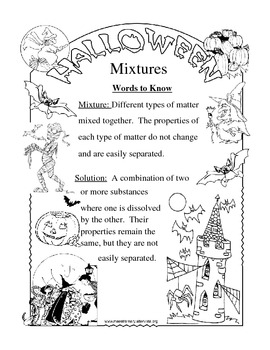 Worksheets Mixtures And Solutions Worksheets mixtures and solutions worksheets delibertad worksheet