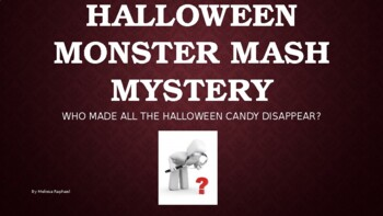WHO DID IT? Halloween Monster Mash Mystery PowerPoint