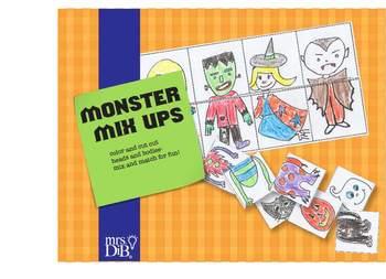 Halloween Monster Mix Ups ** ORIGINAL ARTWORK