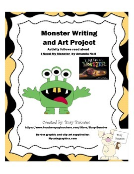 Monster writing and art