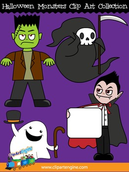 Halloween Monsters Clip Art