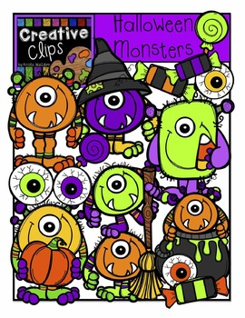 Halloween Monsters {Creative Clips Digital Clipart}