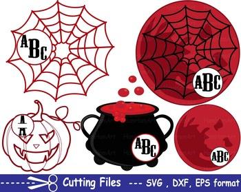 Halloween Moon spiderweb pumpkin EPS SVG DXF school teache