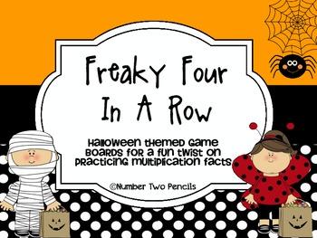 Halloween Multiplication 4 In a Row