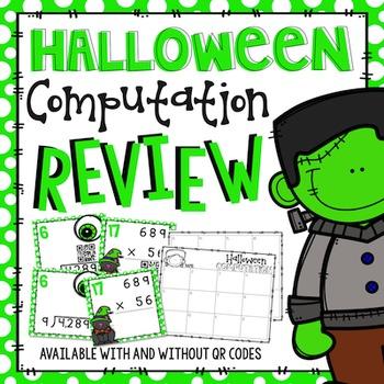 #basketbargains Halloween Multiplication & Division Comput