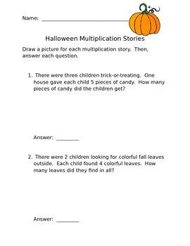 Halloween Multiplication Stories