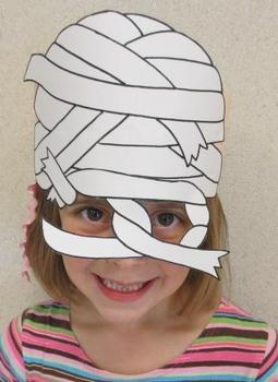 Halloween Mummy Sentence Strip Hat Mask