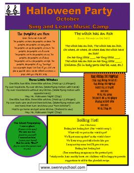 Halloween Music Camp Handout