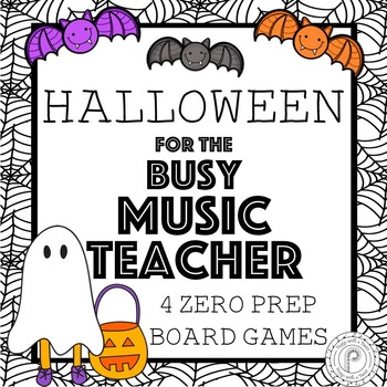 Halloween No Prep Music Board Games
