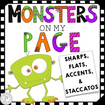 Halloween Music Game- Sharps, Flats, Staccatos, and Accents