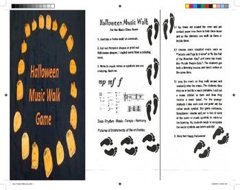 Halloween Music Walk Game