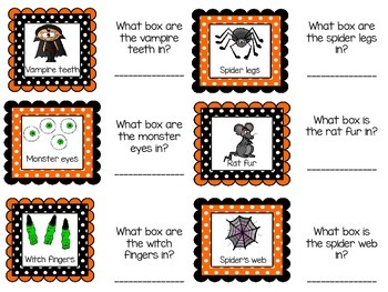 Halloween Mystery or Feely Box Labels