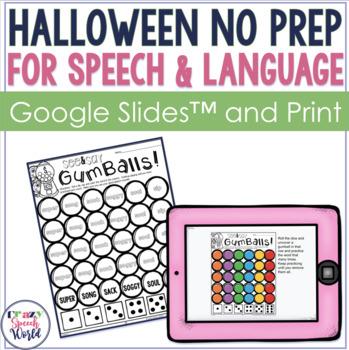 Halloween NO PREP Speech & Language Activities!